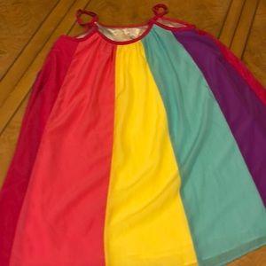 Girls rainbow nightgown